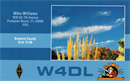 W4DL's 2nd QSL Card