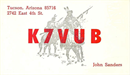 W6BXQ's Previous QSL card as K7VUB